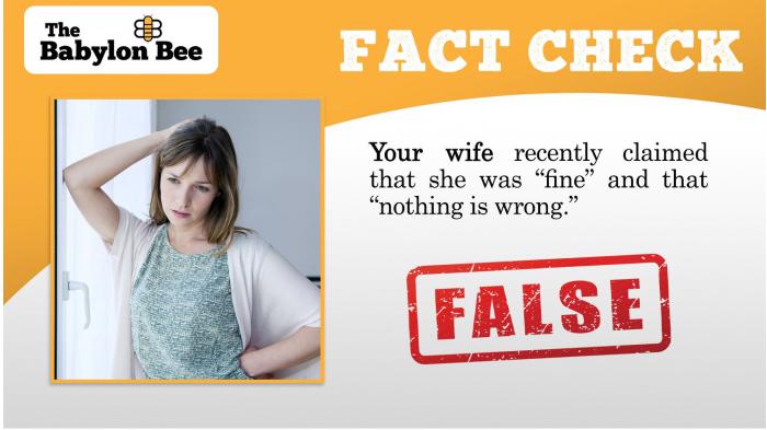 Wedded Bliss-Babylon Bee Fact Check