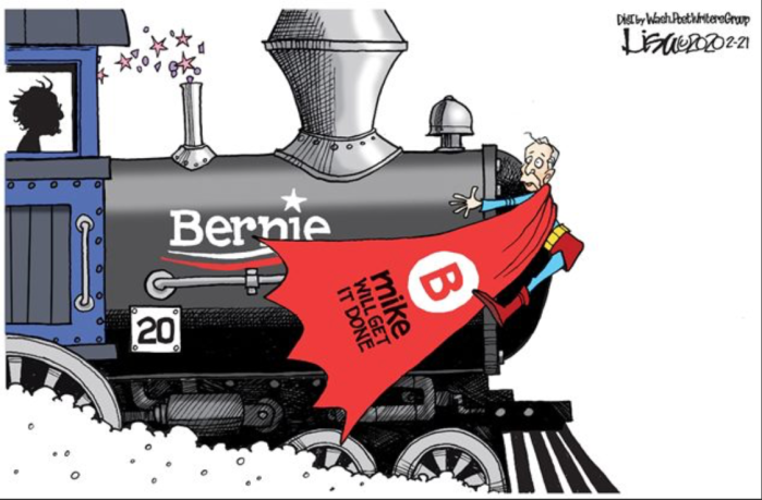 Bernie railroads Mini-Mike