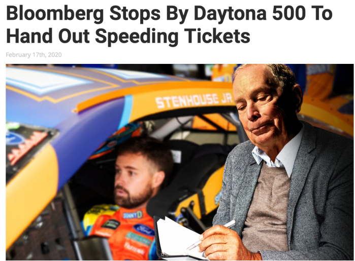 Bloomberg-Daytona 500 speeding tickets