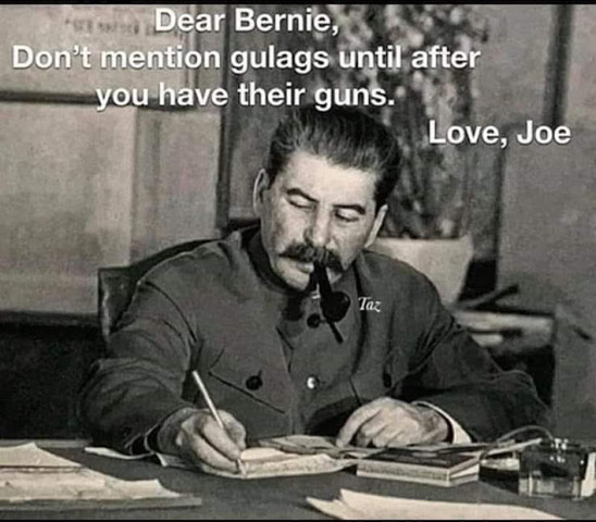 Bread Line Bernie-letter from Stalin