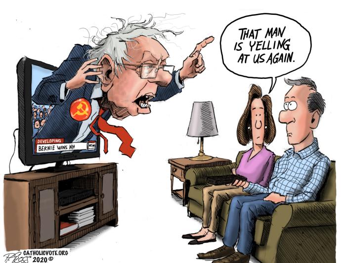 Bread Line Bernie-yelling again