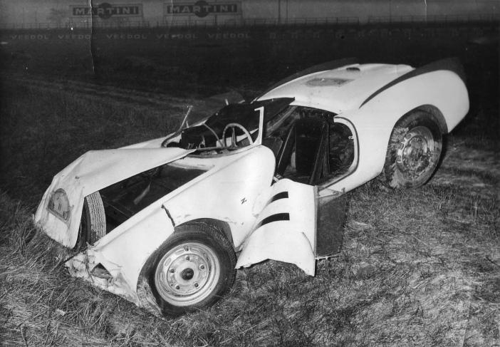 Claude Storez-Porsche wreck