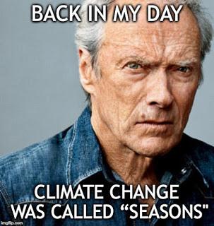 Climate change=seasons
