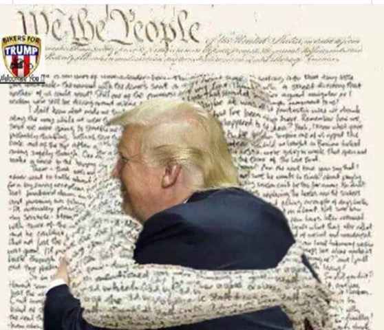 Constitution-hugs Trump
