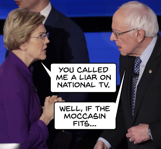 Fauxchahontas-if the moccasin fits