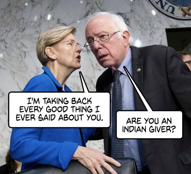 Fauxchahontas-Indian giver