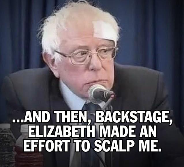 Fauxchahontas-tried to scalp Bernie