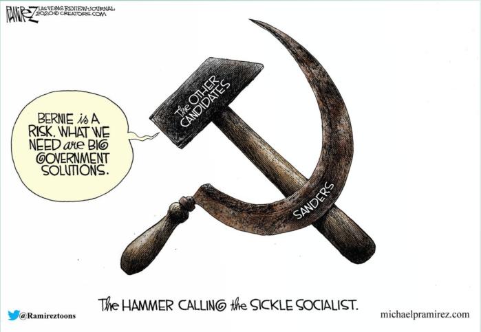 Fidel Sanders-hammer calling sickle socialist