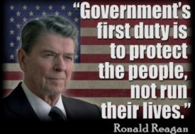 Reagan Governments First Duty
