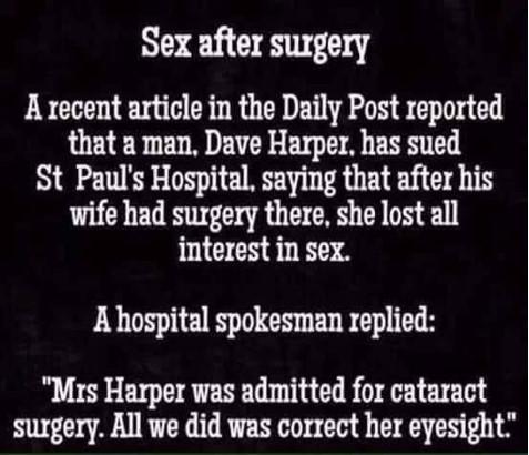 Sex after surgery