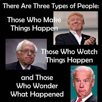 Three kinds of People-Trump_Bernie_Biden