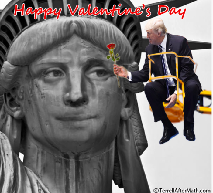 Trump-Lady Liberty-Happy Valentine's Day