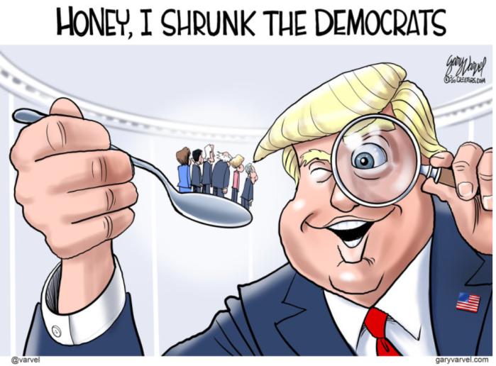 Trump shrank the DemocRATs