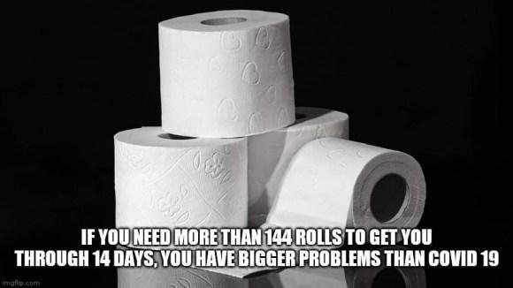 144 rolls of TP