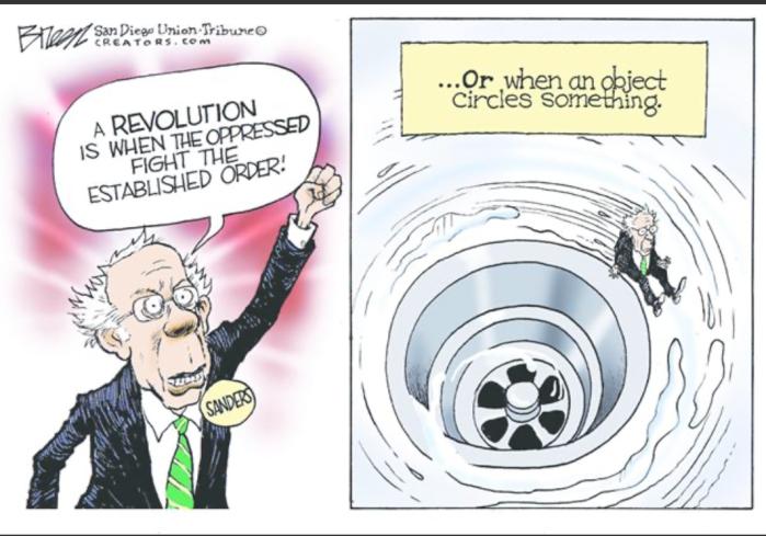 Bernie-down the drain