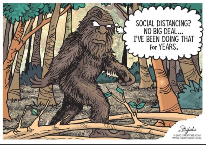 Big Foot Social Distancing