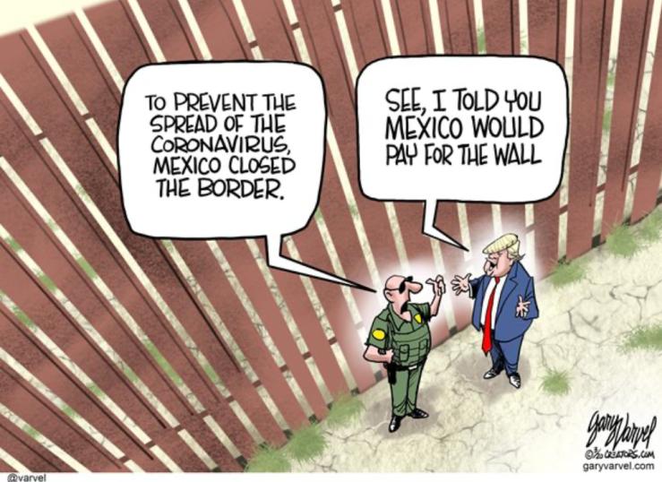 Mexico closed the border