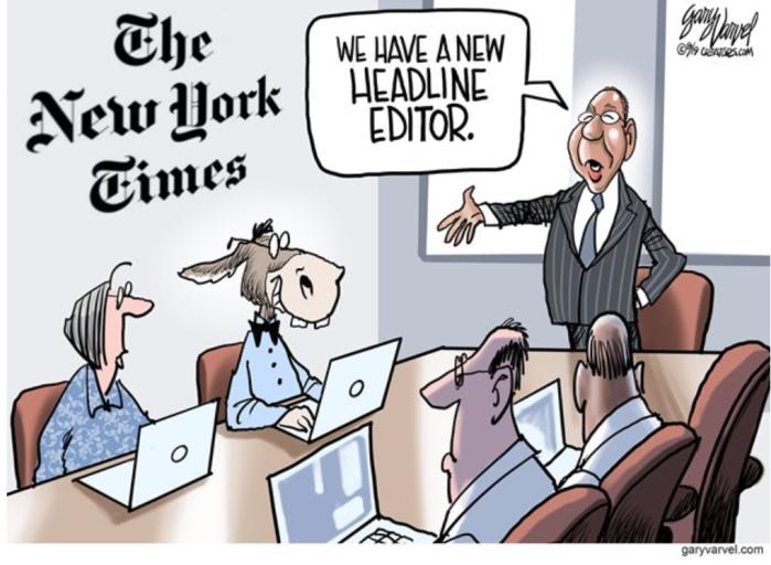 New York Slimes headline editor