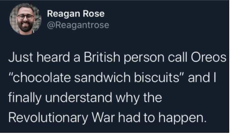 Oreos and the Revolutionary War