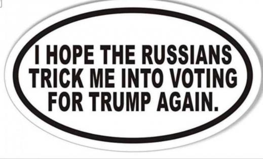 Russians trick me into voting for Trump again