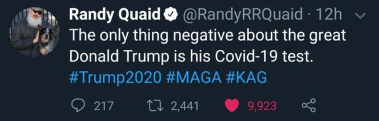 Trump-Covid-19 test