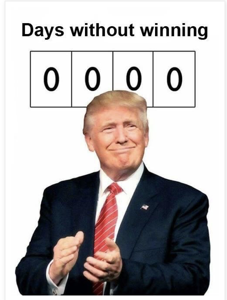 Trump Days without winning