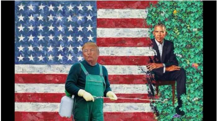 Trump-painting over Obama