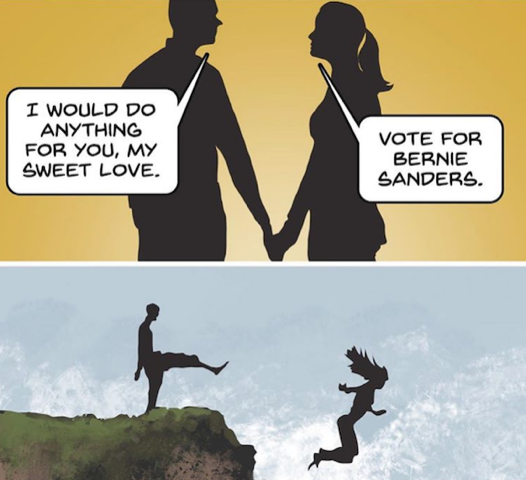 Vote for Sanders-over the cliff