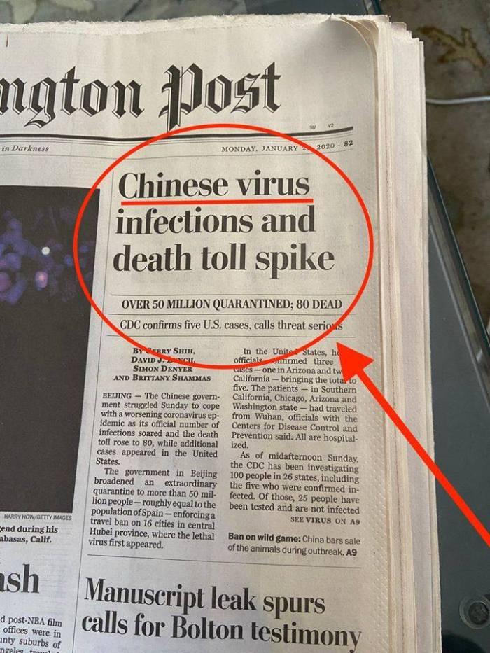 Washington comPost-Chinese virus