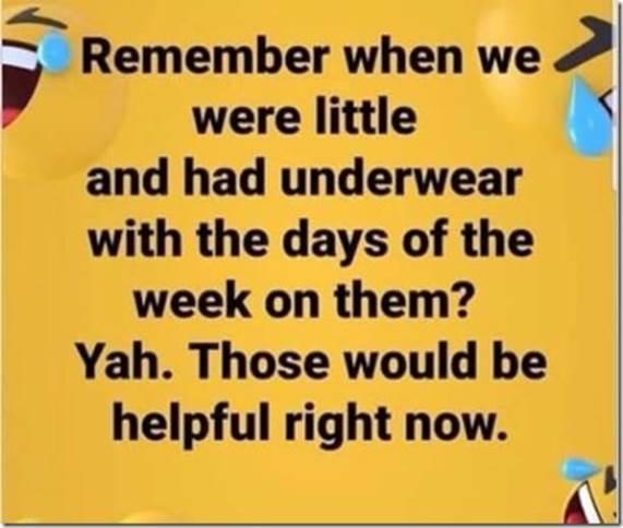 Days of week undies