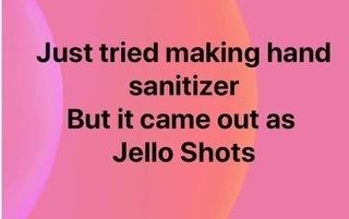 Hand Sanitizer-Jello shots
