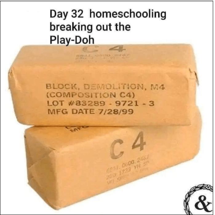 Homeschooling play dough
