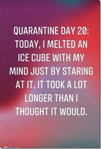 Melted ice cube with my mind