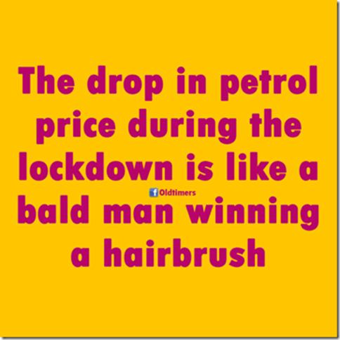 Petrol-bald man-hairbrush
