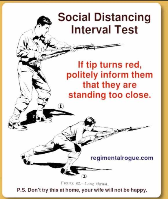 Social Distancing Interval text