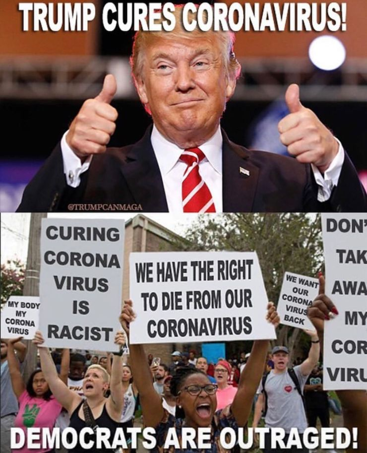 Trump cures coronavirus_'RATs outraged