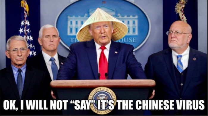 Trump - won't say it's the Chinese virus